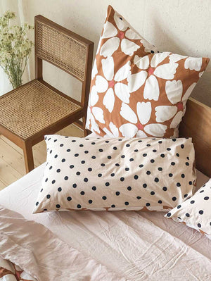Full Bloom Euro Pillowcase set  by Mosey Me