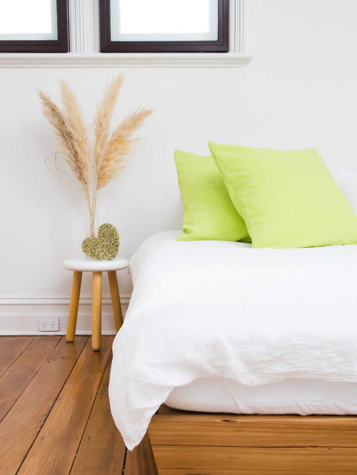 SINGLE EURO PILLOWCASE - LIME  by Mosey Me