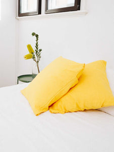 Yellow Euro Pillowcases