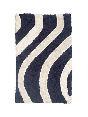 Wave Bath Mat in Navy  by Mosey Me