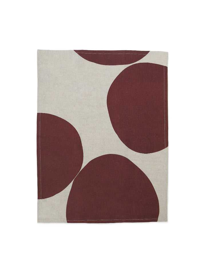 Pebble Tea Towel - Wine  by Mosey Me