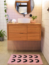 Load image into Gallery viewer, Pink Curve Bath Mat