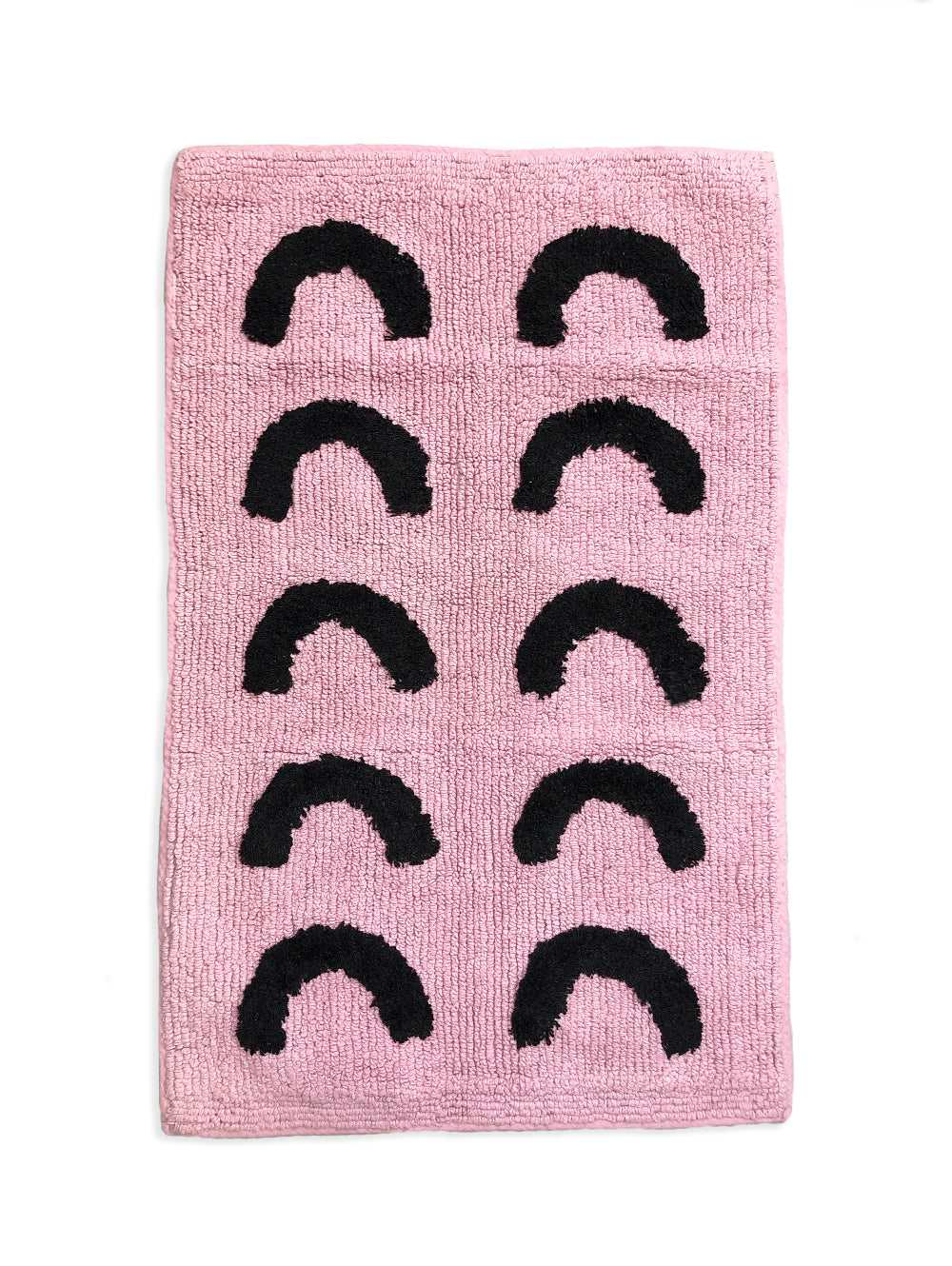 Pink Curve Bath Mat  by Mosey Me