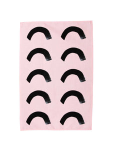 Pink Curve Tea Towel  by Mosey Me