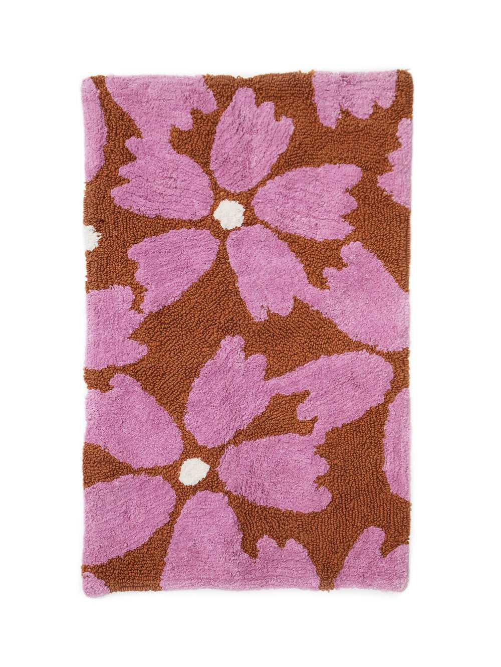 Flower Bath Mat in Rust  by Mosey Me