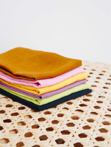MULTI COLOUR LINEN NAPKIN SET OF 6