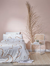 Load image into Gallery viewer, Salento Quilt Cover Set in Blue & Clay  by Mosey Me