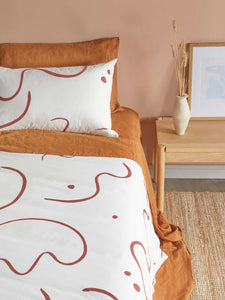 Kids Salento quilt cover set in Wine & Orchid  by Mosey Me