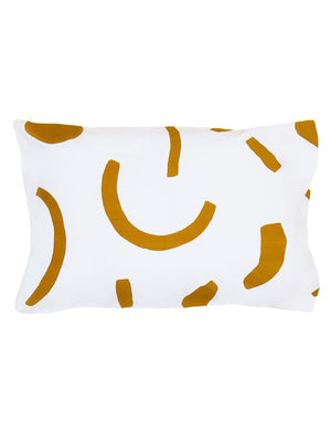 Shapes Standard Pillowcase set Navy & Tan  by Mosey Me