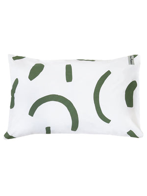Shapes Standard Pillowcase Set Pink & Olive  by Mosey Me