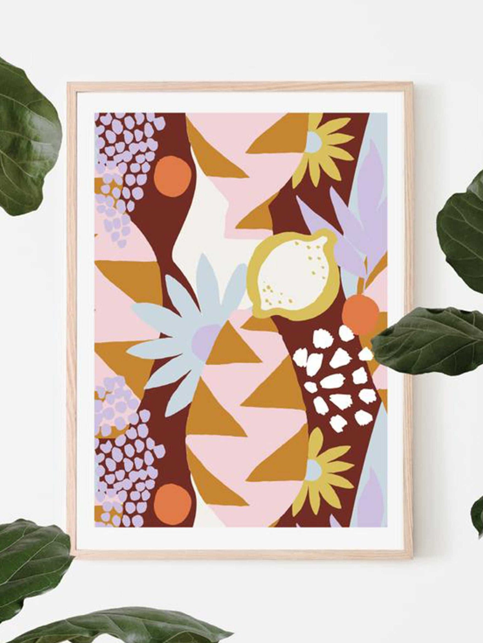 Tropica art print - Maroon  by Mosey Me