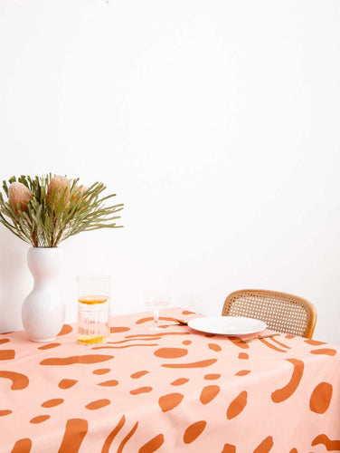 DOT DASH TABLECLOTH  by Mosey Me