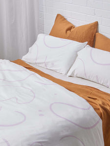 Salento Standard Pillowcase Set Wine & Orchid  by Mosey Me