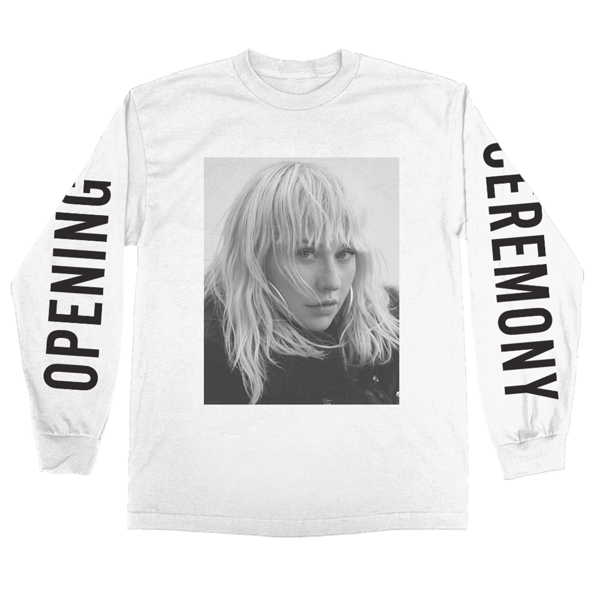 Opening Ceremony B&W Photo Long Sleeve Tee - Christina Aguilera