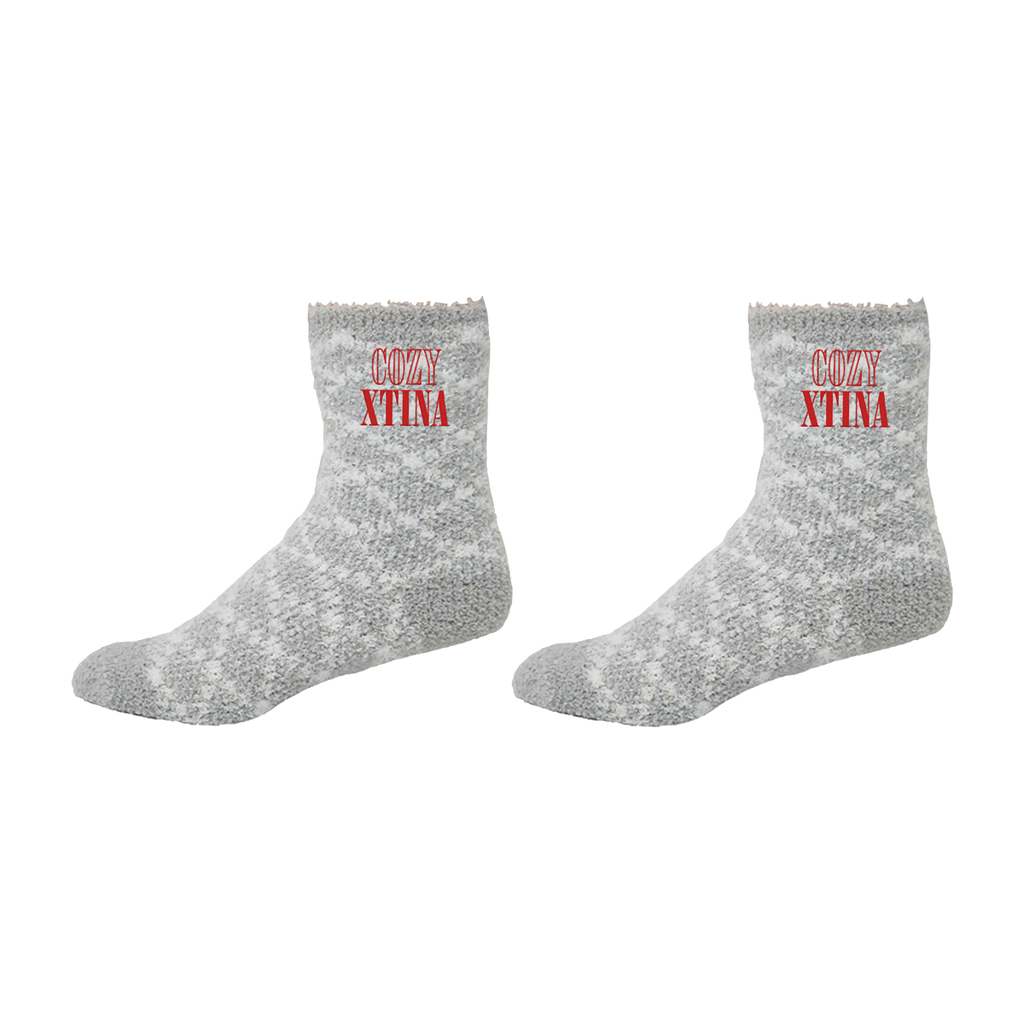 Cozy Xtina Gray Socks