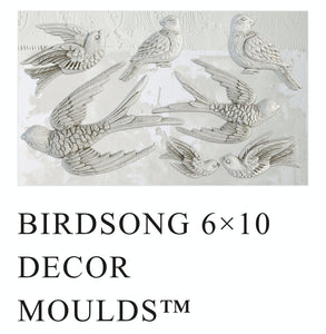 IOD / Bird Song 6x10 Decor Moulds