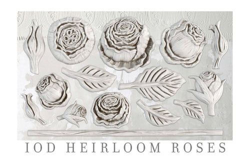 IOD Heirloom Roses 6 x 10 Decor Moulds