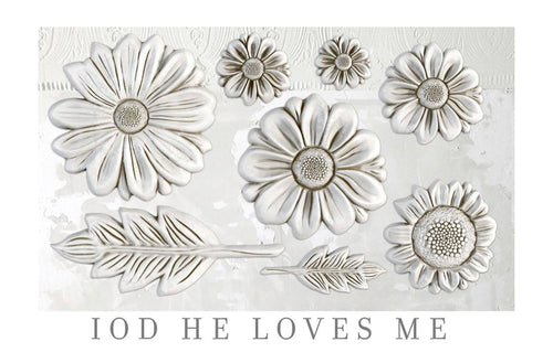 IOD He Loves Me 6 x 10 Decor Moulds