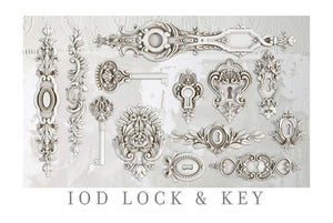 IOD Lock and Key 6 x 10 Decor Moulds