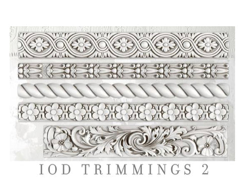IOD Trimmings #2, 6 x 10 Decor Moulds