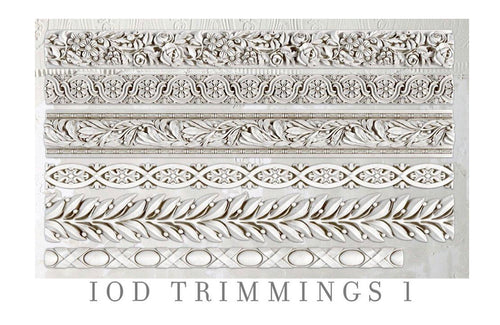 IOD Trimmings #1, 6 x 10 Decor Moulds