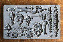 Load image into Gallery viewer, IOD Lock and Key 6 x 10 Decor Moulds
