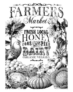 Farmer's Market 24x33 Paintable Decor Transfer