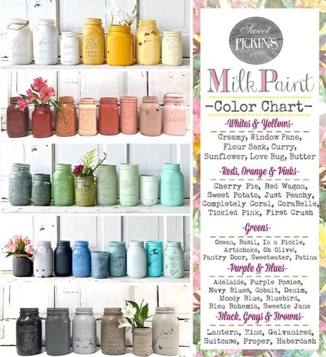 Sample 2 oz. Size Sweet Pickins Milk Paint Any Color