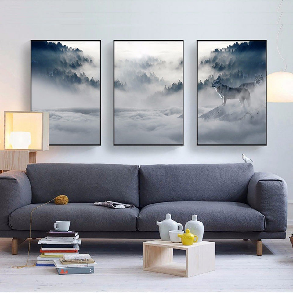 Wild Sweeping Vapour™ Art Canvas
