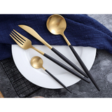 Saints 4pc Gold Cutlery Set