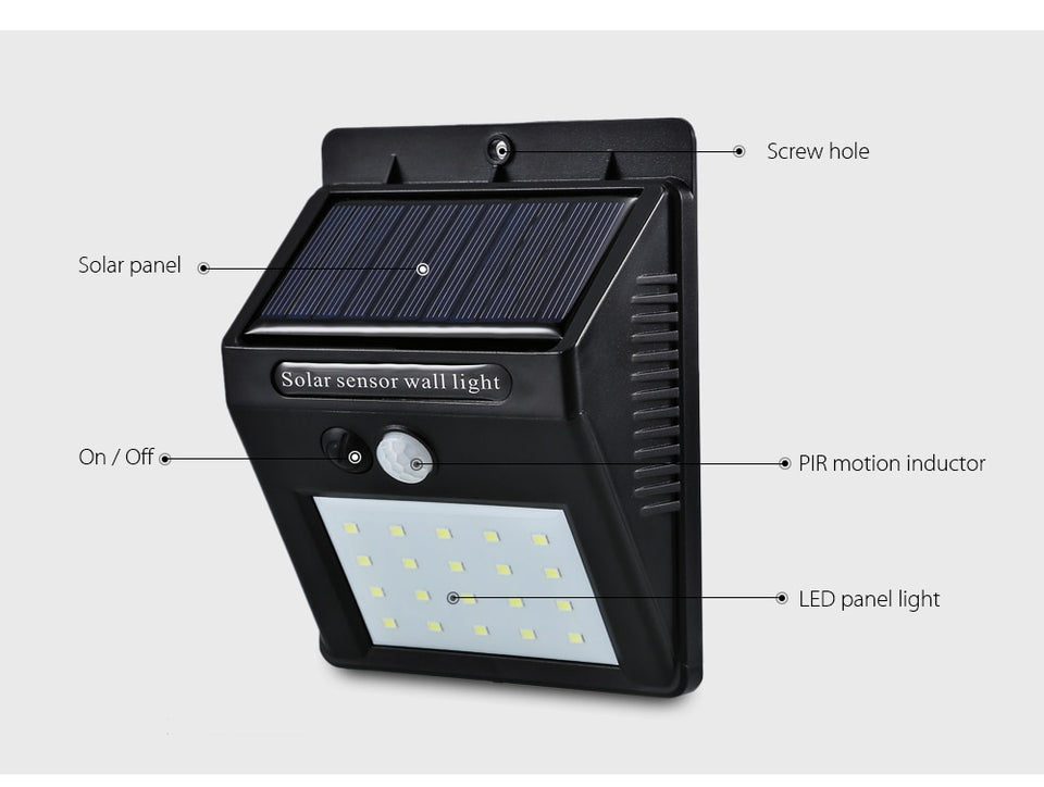 Sustainable Solar™ LED Sensor Light