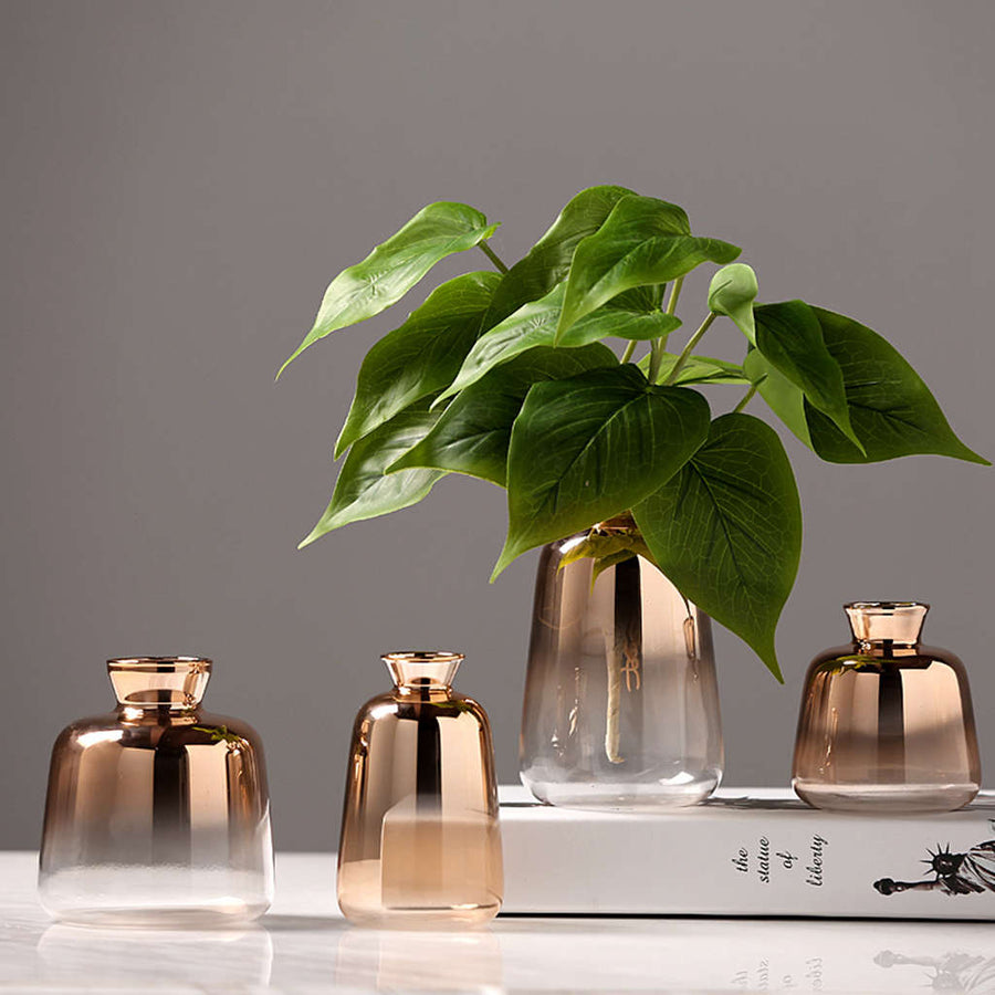 Nordic Faded Gold Vases