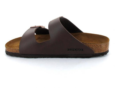 dark brown birkenstock-arizona-birko-flor-narrow side
