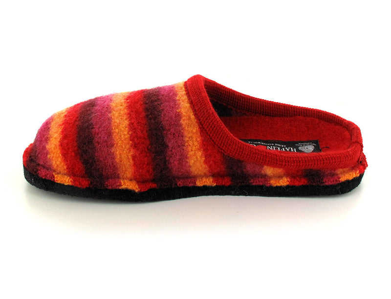 red striped haflinger-boiled-wool-scuffs side