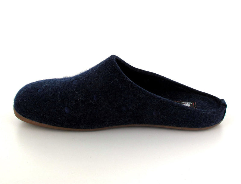 blue haflinger-womens-felt-slippers side