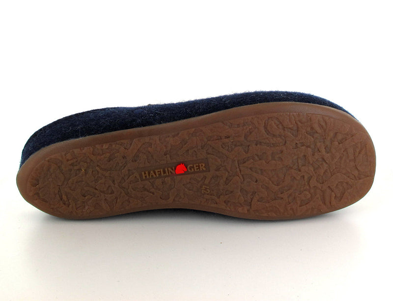 blue haflinger-womens-felt-slippers sole