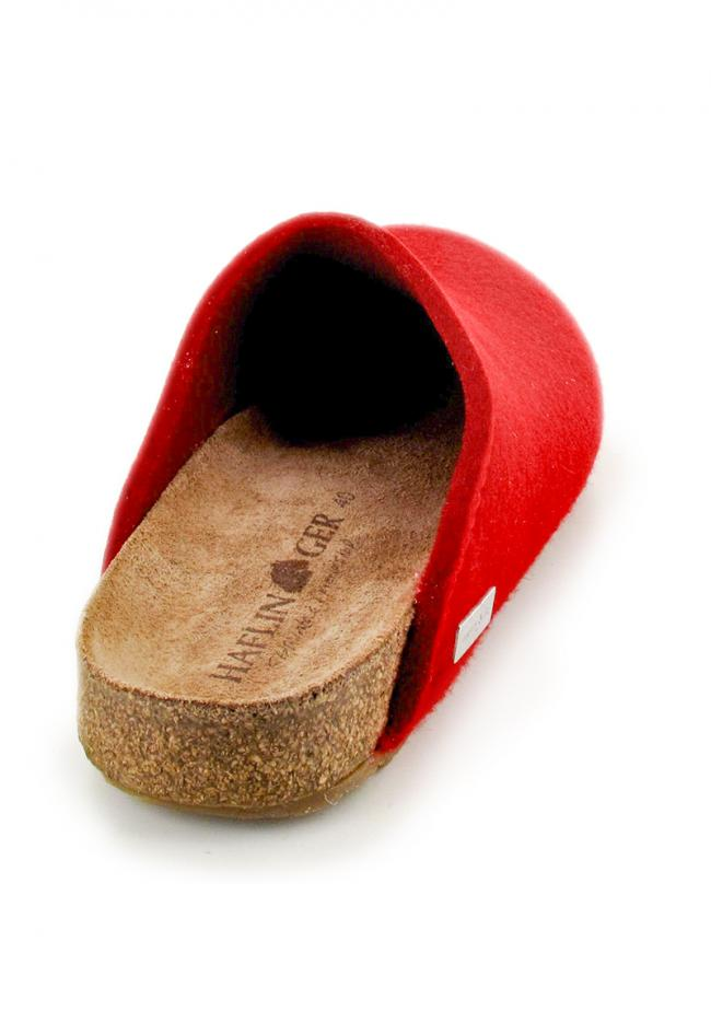 ruby red haflinger-bio-felt-clogs back