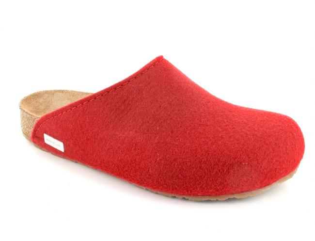 ruby red haflinger-bio-felt-clogs