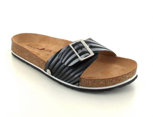 black haflinger-womens-one-strap-sandals