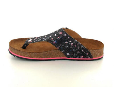 conny schwarzmagenta haflinger-thong-sandals-conny-sprinkles side