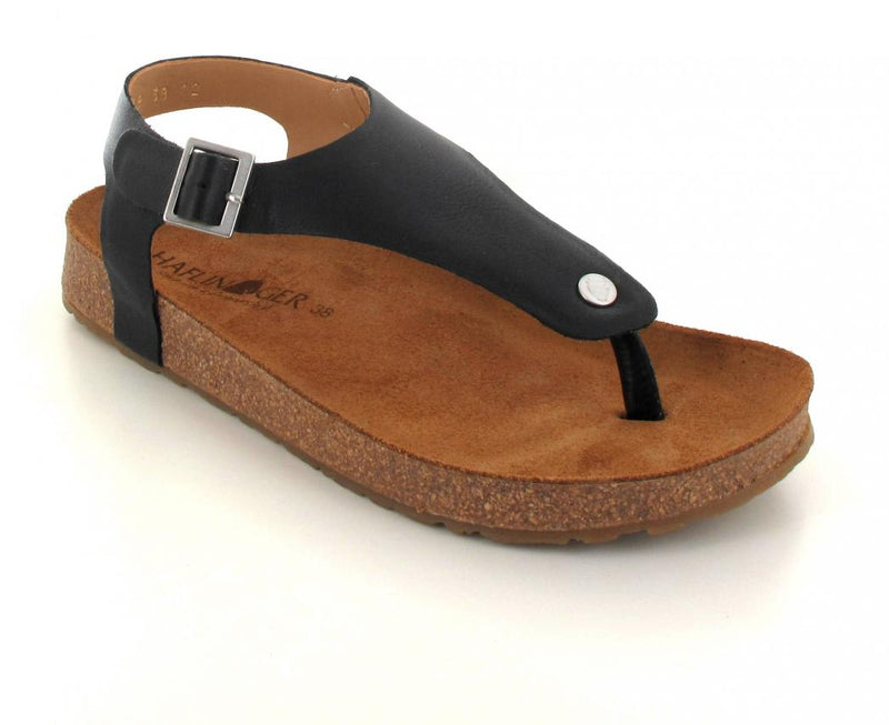 black haflinger-closed-thong-sandals-cosima