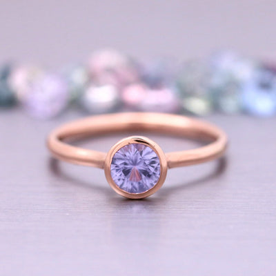 5.0mm Sapphire Stacking Ring in 14k Rose Gold