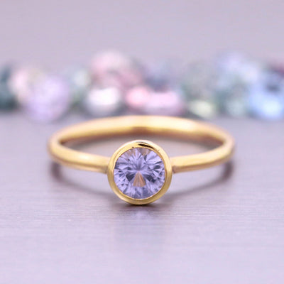 4.0mm Sapphire Stacking Ring in 14K Yellow Gold