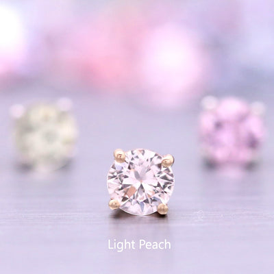 4mm Sorbet Stud Earrings