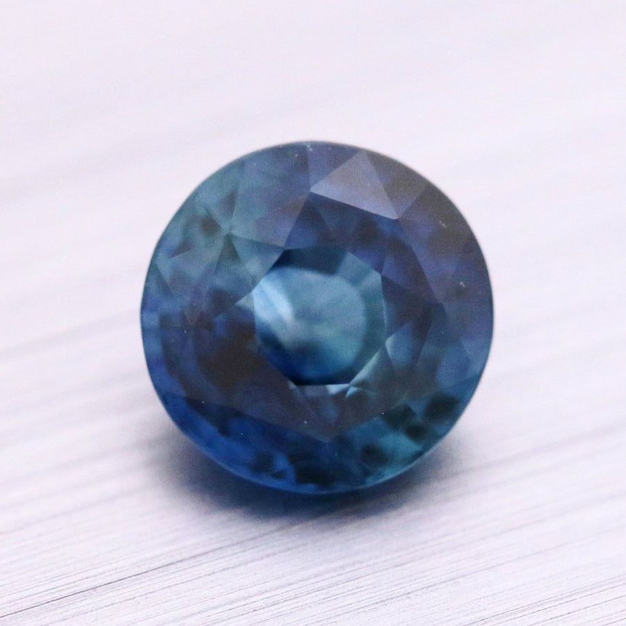 1.11ct Round Mixed Cut Sapphire