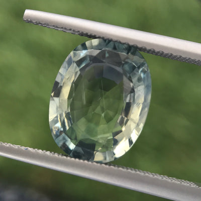5.35ct Oval Mixed Cut Sapphire