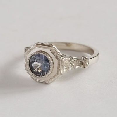 Wolves Moon Sapphire Solitaire