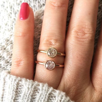 Copy of 4.0mm Sapphire Stacking Ring in 14K Rose Gold