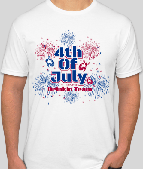 4th of July Drinking Team - 2atees1