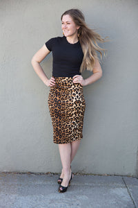 🐆 Leopard Pencil Skirt S-3X